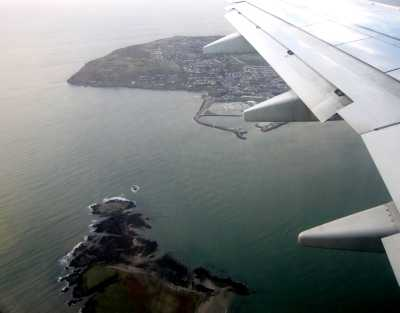 Arrival in Dublin, Ireland, over Howth