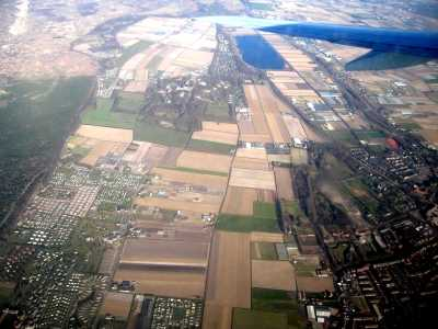 View over Holland from aeroplane