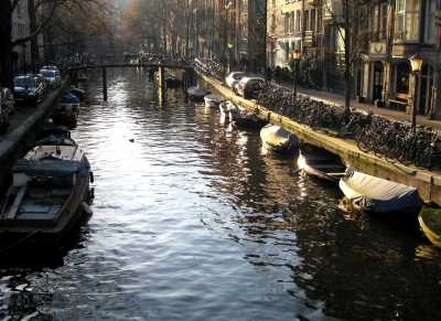 Canal in evening light