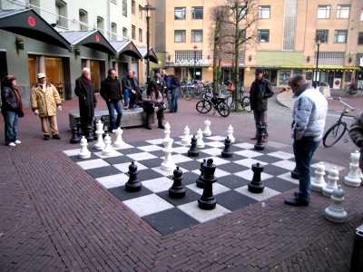 Outdoor chess, Leidseplein, Amsterdam