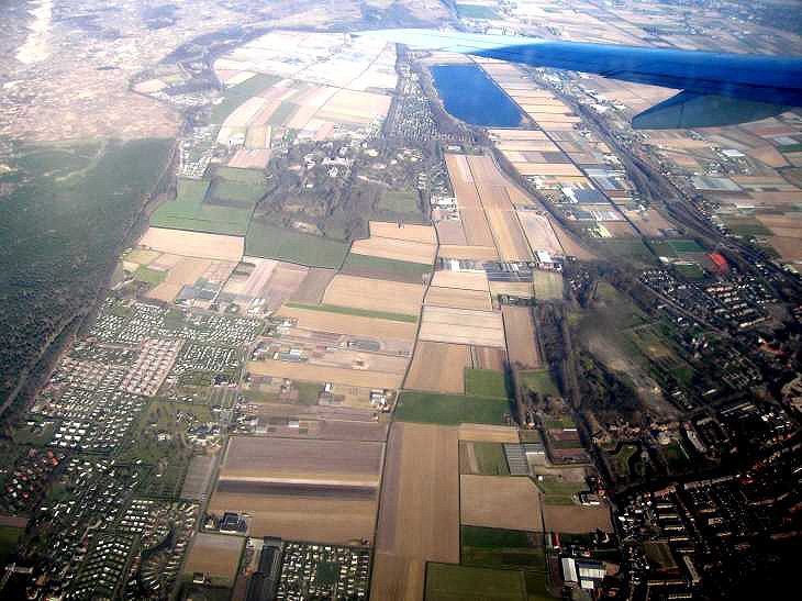 Arriving in Holland by aeroplane