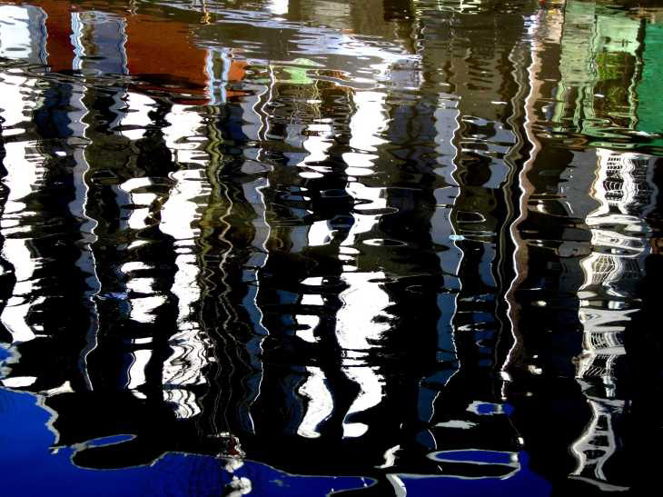 Reflections in water, Amsterdam