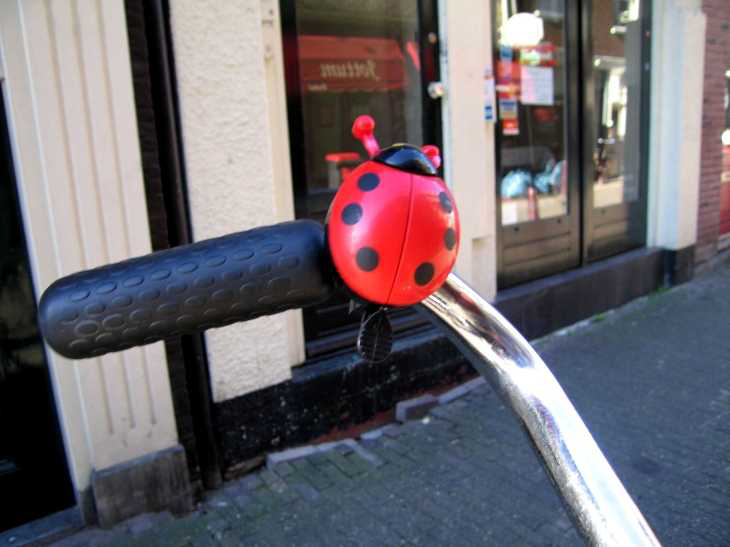 Ladybird bicycle bell, Amsterdam