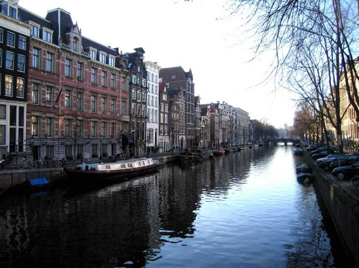 Canal in Jordaan district Amsterdam