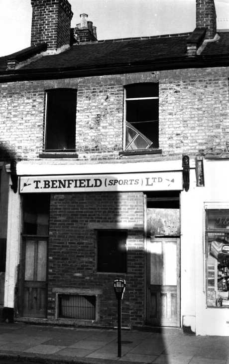 Derelict shop Black & white photograph