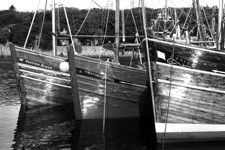Boats in harbour at Stornoway, Isle of Lewis