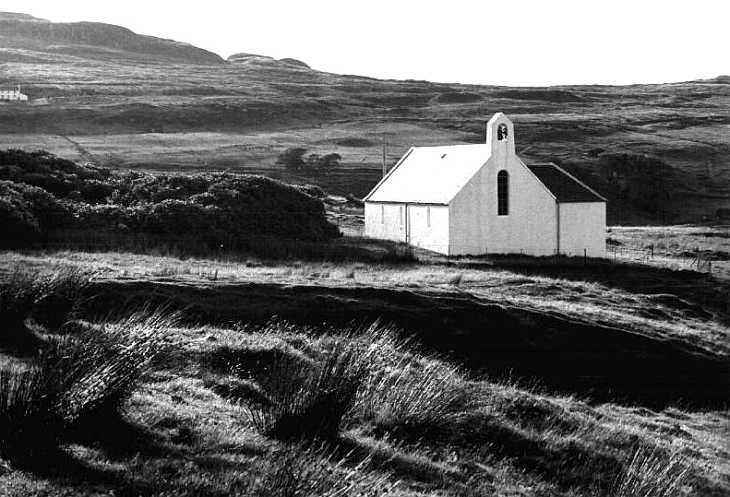 Church on The Isle of Skye, The Hebrides Islands, Scotland