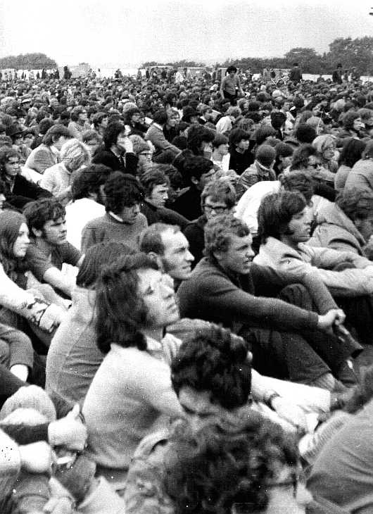 Fans at the Isle of Wight rock festival 1969