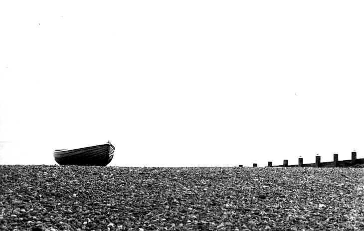 Boat on the beach at Worthing