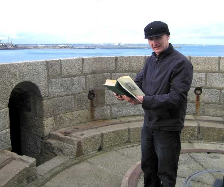On top of the Martello tower, now a James Joyce museum