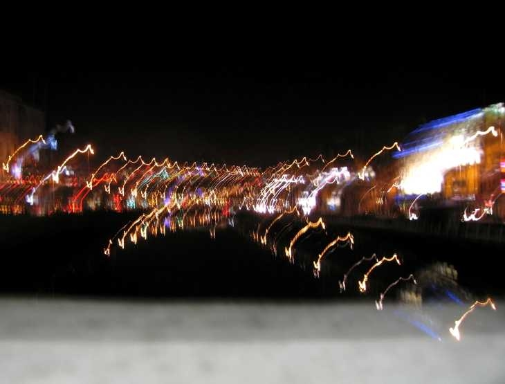 Abstract view of the River Liffey at night 1
