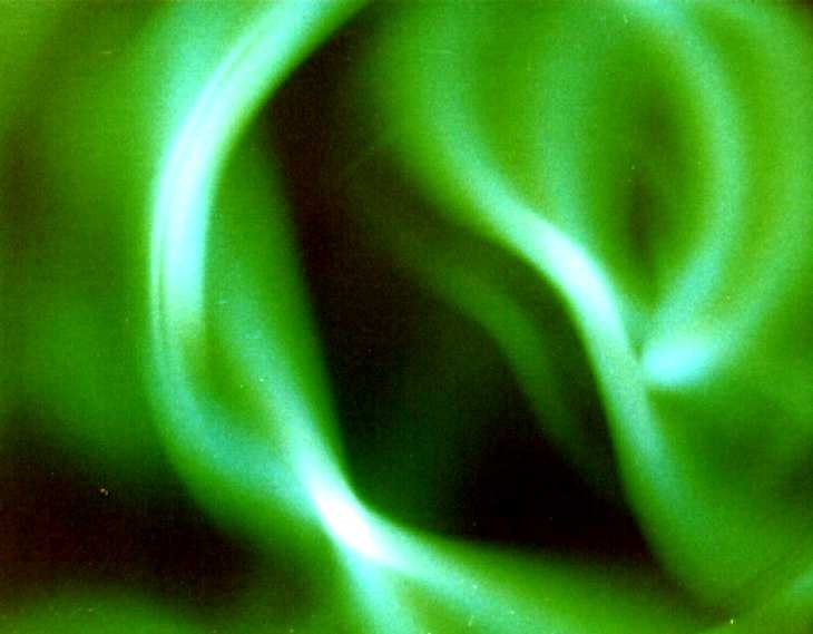 Experimental photography. Green Swirl