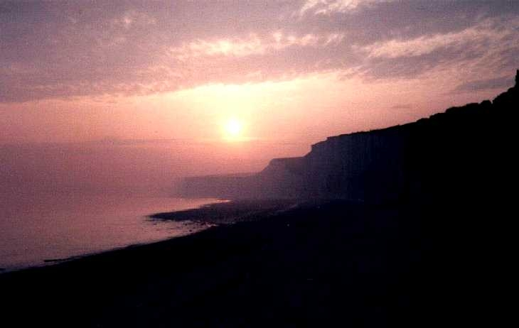 Sunset near Birling Gap, Sussex, south coast