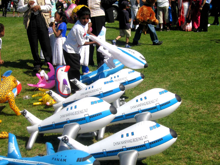 A budding air traffic controller at The Baishakhi Mela