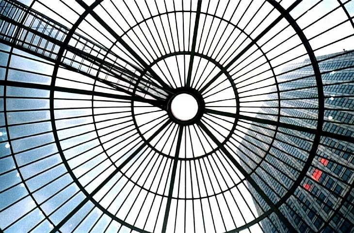 Glass ceiling, Canary Wharf, London