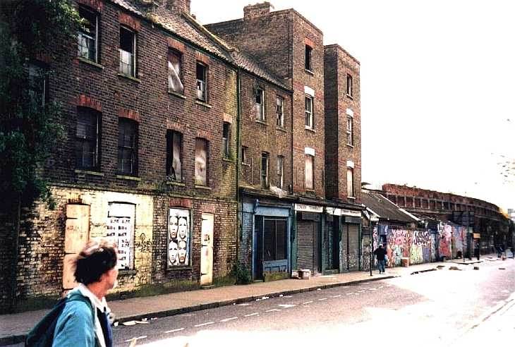Derelict buildings near Brick Lane, London East End