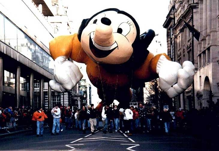 Micky Mouse, New Year Parade, Piccadilly, London 1998