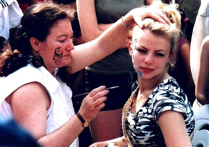 Face painting, Baishakhi Mela, Brick Lane 2001