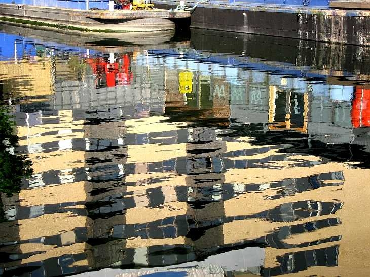 Reflections in the canal, Islington, London