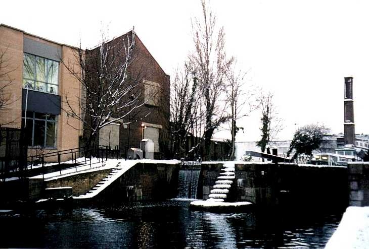 Canal lock, Islington, London