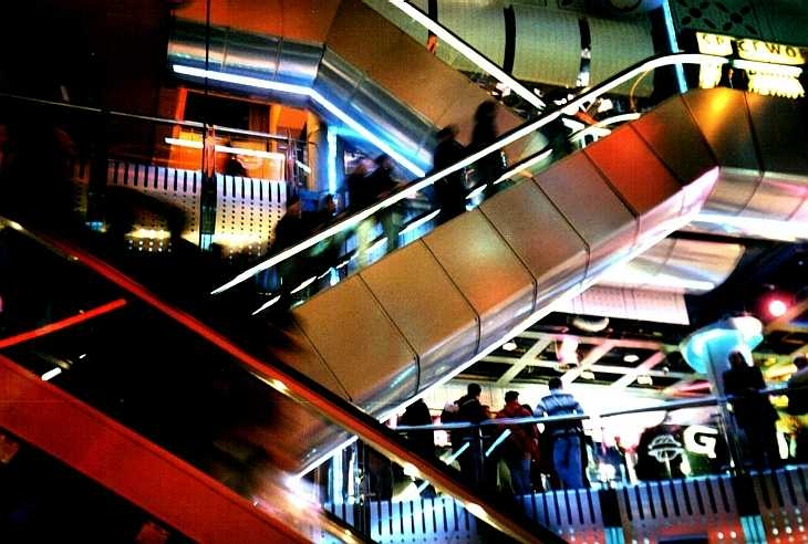 Escalators in the Trocadero, Piccadilly Circus
