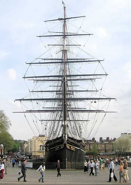 The Cutty Sark at Greenwich, London