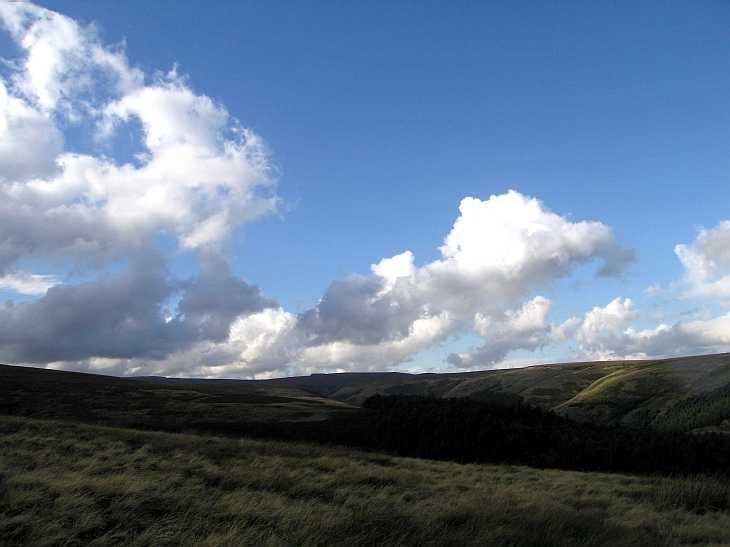 Cloudscape near Alport Castles, Derbyshire Peak District