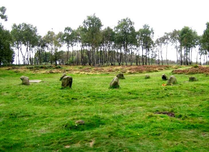 Nine Laidies stone circle, Stanton Moor