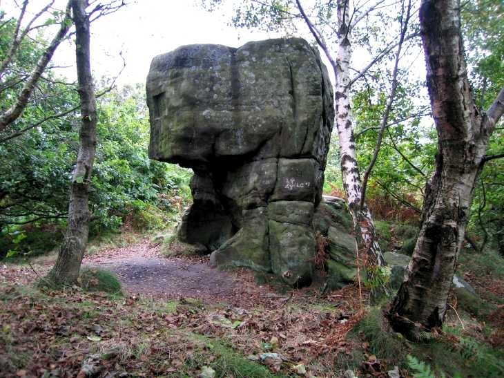 Rock formation on Stanton Moor