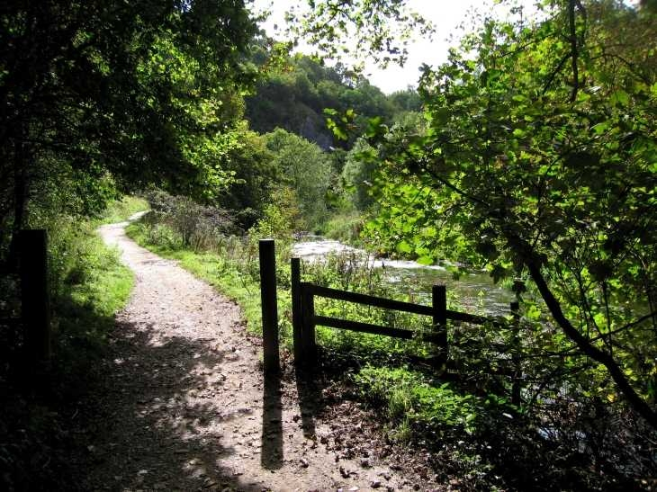 Sunlight and shadow by The River Dove, Dovedale