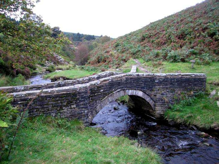 Stone bridge over The River Goyt