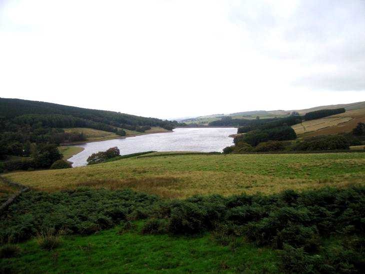 The Errwood Reservoir in The Goyt Valley
