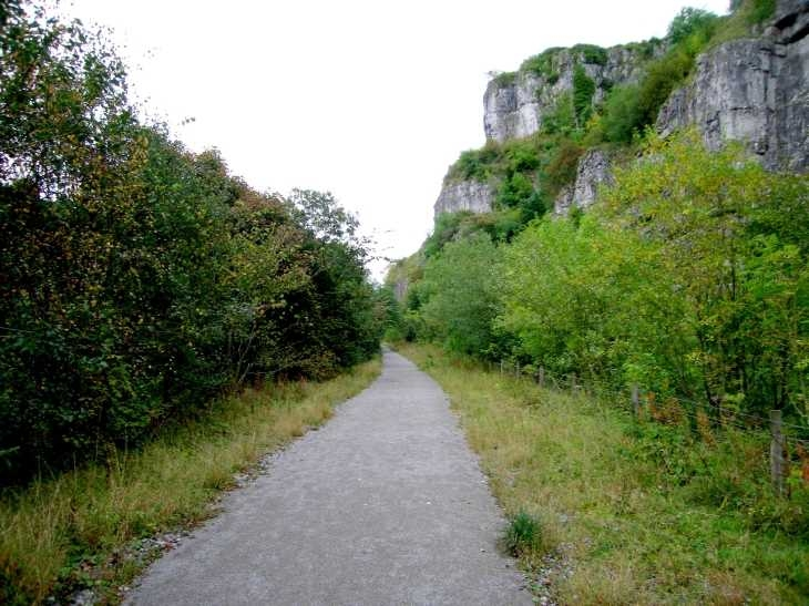 The Monsal Trail, disused railway, Chee Dale