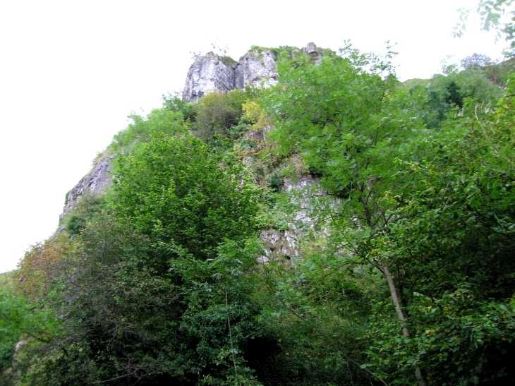 Cliffs over The Monsal Trail in Chee Dale