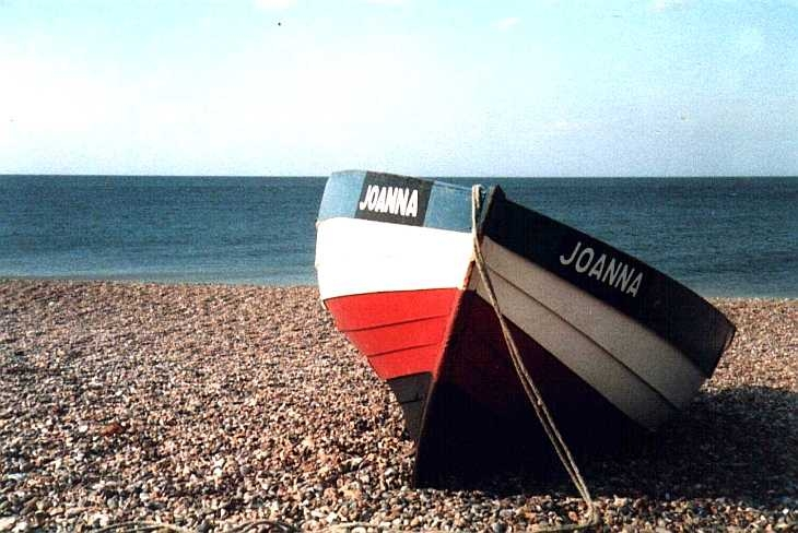 Boat, shingle and sea, Norfolk