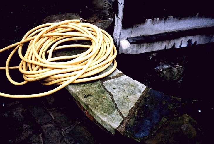 Coiled hose, Smithfield, London
