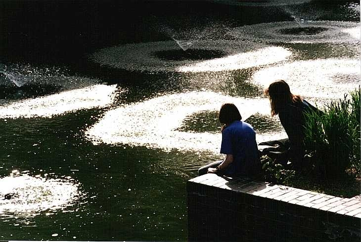 Fountains at The Barbican Centre, London