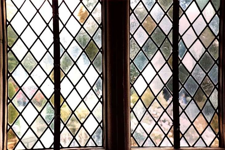 Leaded window at Haddon Hall, Derbyshire
