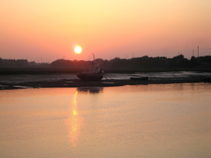 Sunset over estuary at Shoreham-by-Sea