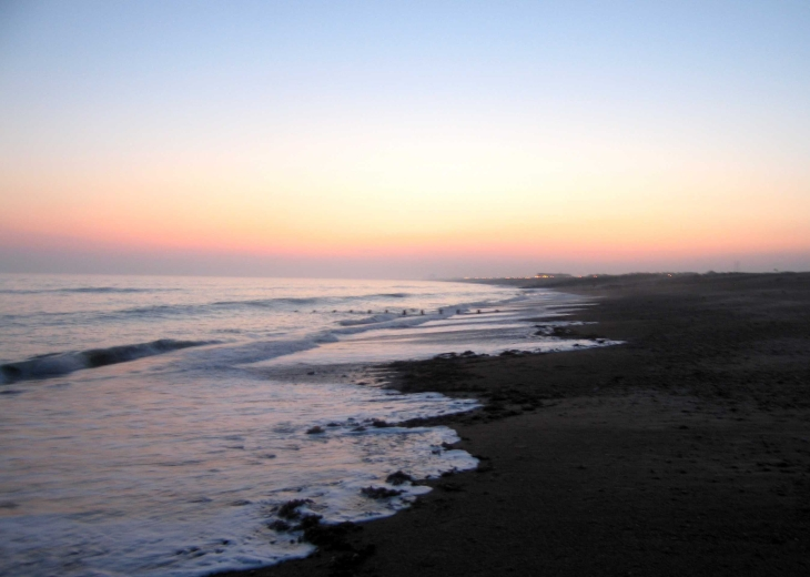 Beach after sunset, Shoreham-by-Sea