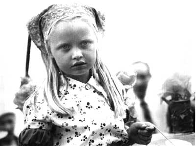 Little girl in parade