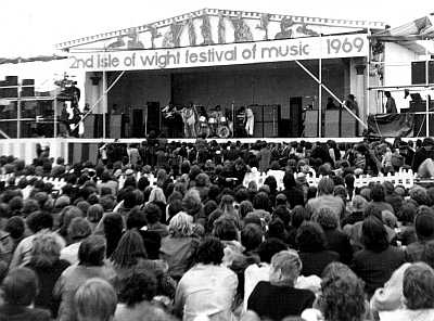 The Who at the Isle of Wight rock festival 1969