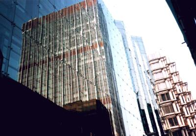 Reflection of Britannic House, City of London