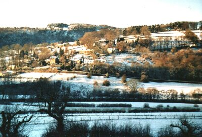 Sir William Hill, Grindleford, Derbyshire, The Peak District in snow