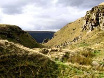 Alport Castles, Alport Dale, Derbyshire Peak District