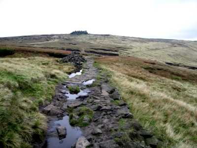 On Kinder Scout near Edale, Derbyshire Peak District
