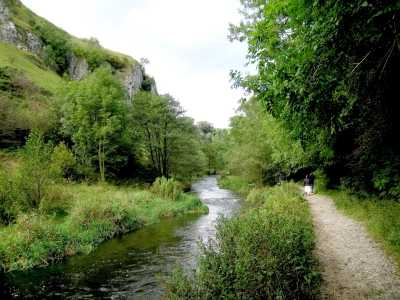 Riverside path in Dovedale, The Peak District