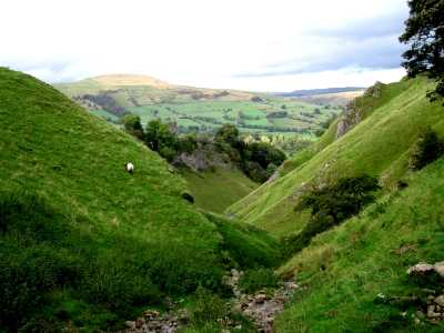 Looking down from Cave Dale, Castleton