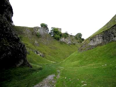 Peveril Castle and Cave Dale, Castleton