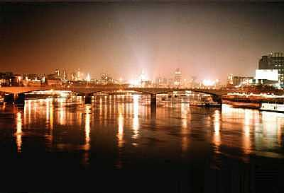 River Thames, London at night